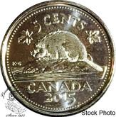 Canada: 2015 5 Cent Non Circulating BU Coin