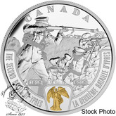 Canada: 2015 $20 First World War: Battlefront Series - The Second Battle of Ypres Silver Coin