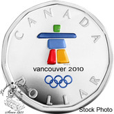 Canada: 2010 $1 Lucky Loonie Inukshuk Silver Coin
