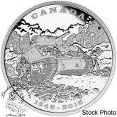Canada: 2015 $20 70th Anniversary of the End of the Italian Campaign Silver Coin