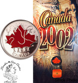 Canada: 2002 25 Cent Canada Day Coloured Coin in Folder