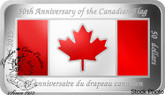 Canada: 2015 $50 50th Anniversary of the Canadian Flag Rectangular Silver Coin