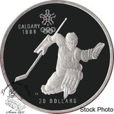 Canada: 1986 $20 Calgary Olympic Winter Games Hockey Silver Coin