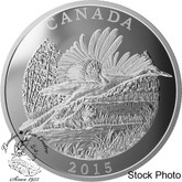 Canada: 2015 $125 Conservation Series: The Whooping Crane Silver Coin