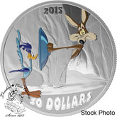 Canada: 2015 $30 Looney Tunes™Classic Scenes: Fast and Furry-ous Silver Coin