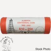 Canada: 2005 P Alberta 25 Cent Original Roll (40 Coins) - Special Wrap