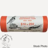 Canada: 2005 P Saskatchewan 25 Cent Original Roll (40 Coins) - Special Wrap