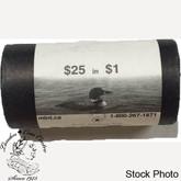 Canada: 2005 $1 Terry Fox Loonie Coin Roll (25 coins)