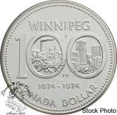 Canada: 1974 $1 Winnipeg Centennial Silver Dollar Coin