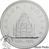 Canada: 1976 $1 Library of Parliament Silver Dollar Coin