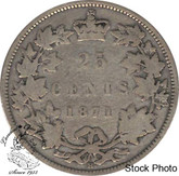 Canada: 1871H 25 Cents Obv 2 VG8