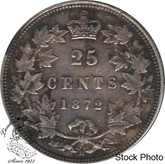 Canada: 1872H 25 Cents Obv 2 EF40