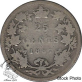 Canada: 1887 25 Cents G4