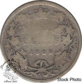 Canada: 1889 25 Cents Closed 9 G4