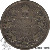 Canada: 1904 25 Cents VG8