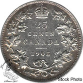 Canada: 1905 25 Cents VF20