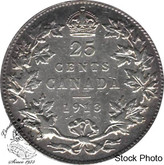Canada: 1913 25 Cents VF20