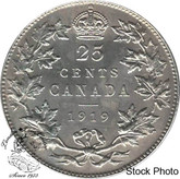Canada: 1919 25 Cents EF40