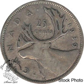 Canada: 1939 25 Cents F12
