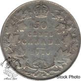 Canada: 1910 50 Cents Ed leafs VG8