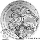 Canada: 2016 $10 Year of the Monkey Silver Coin