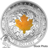 Canada: 2016 $20 Majestic Maple with Drusy Stone Silver Coin