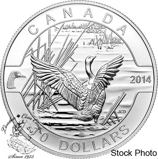 Canada Goose toronto replica price - Canada: 2014 $10 O Canada Goose Silver Coin - Coin Gallery London ...