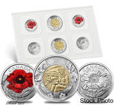 Canada: 2015 In Flanders Fields and Poppy Remembrance Uncirculated Coin Pack