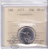 Canada: 1977 25 Cents ICCS MS65 Coin nr 11