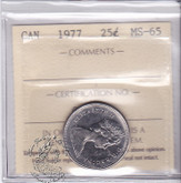 Canada: 1977 25 Cents ICCS MS65 Coin nr 12