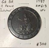Great Britain: 1797 2 Pence George III Cartwheel #4