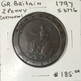 "Great Britain: 1797 2 Pence George III ""Cartwheel"" #5"