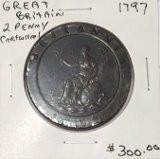 Great Britain: 1797 2 Pence George III Cartwheel #7