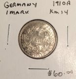 Germany: 1910 A 1 Mark