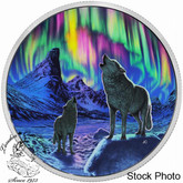 Canada: 2016 $30 Northern Lights in the Moonlight Silver Coin