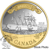 Canada: 2016 150th Anniversary of the Transatlantic Cable Gold Plated Silver Proof Silver Dollar