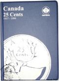 Canada: 1937 - 1999 25 Cents Uni-Safe Coin Folder