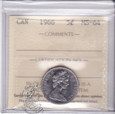 Canada: 1966 5 Cents ICCS MS64 Coin nr 13