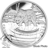 Canada: 2016 $10 Reflections of Wildlife Grizzly Bear Silver Coin