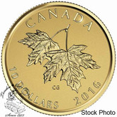 Canada: 2016 $10 Maple Leaves with Queen Elizabeth II 2003 Effigy Gold Coin