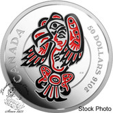 Canada: 2016 $50 Mythical Realms of the Haida - The Eagle Silver Coin