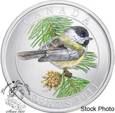Canada: 2011 25 Cents Black Capped Chickadee Coloured Coin