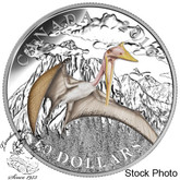 Canada: 2016 $10 Day of the Dinosaurs: Terror of the Sky Silver Coin