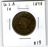 United States: 1848 Large Cent #2