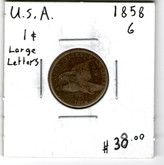 United States: 1858 Flying Eagle Cent Large Letters G