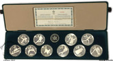 Canada: 1985 - 1988 $20 Calgary Olympic Silver 10 Coin Set