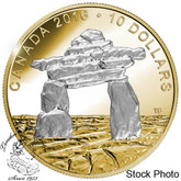 Canada: 2016 $10 Iconic Canada - Inukshuk Silver Coin
