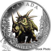 Canada: 2016 $10 Day of the Dinosaurs: Spiked Lizard Silver Coin