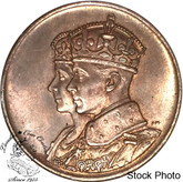 Canada: 1939 George V Royal Visit Bronze Medallion - Large Size