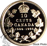 Canada: 1998 10 Cents Commemorative 1908 - 1998 Proof Coin